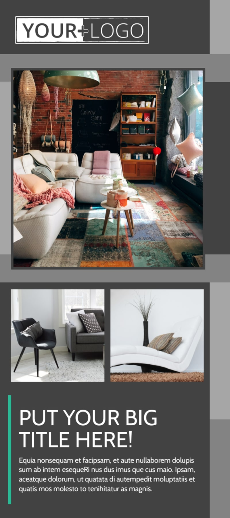Furniture & Design Consultants Flyer Template Preview 2