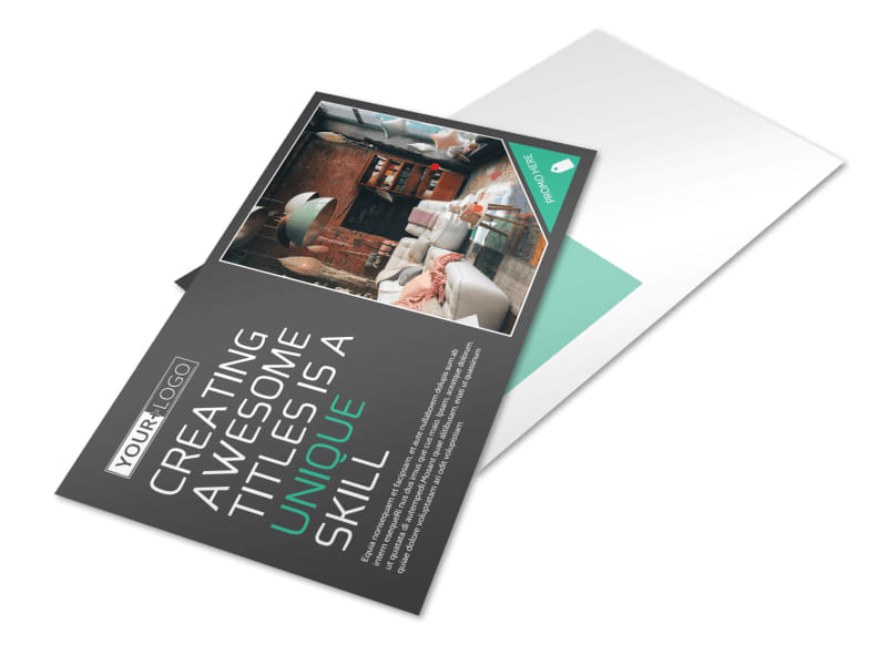 Furniture & Design Consultants Postcard Template Preview 4