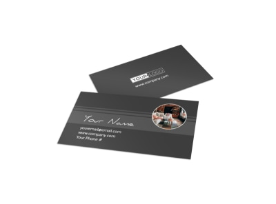 Furniture & Design Consultants Business Card Template preview