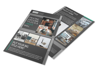 Furniture & Design Consultants Flyer Template preview