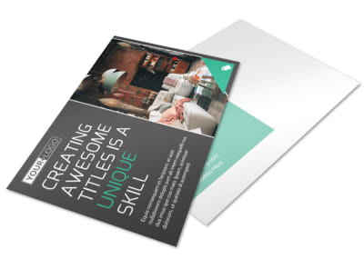 Furniture & Design Consultants Postcard Template preview