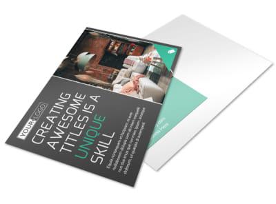 Furniture & Design Consultants Postcard Template preview