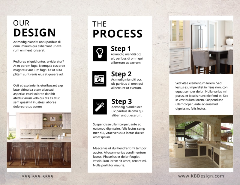 Kitchen Design Consultants Brochure Template Preview 3