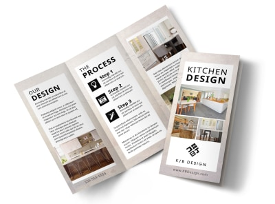 Kitchen Design Consultants Tri-Fold Brochure Template preview