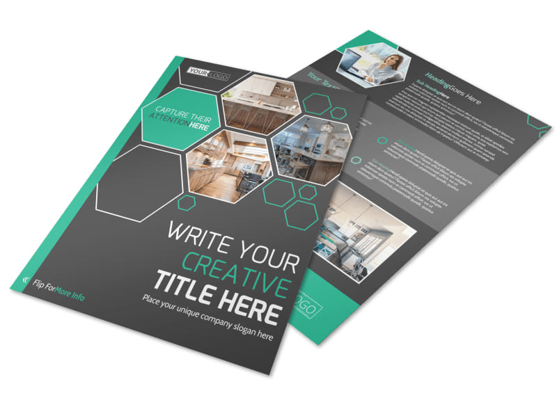 Kitchen Design Consultants Flyer Template Preview 4