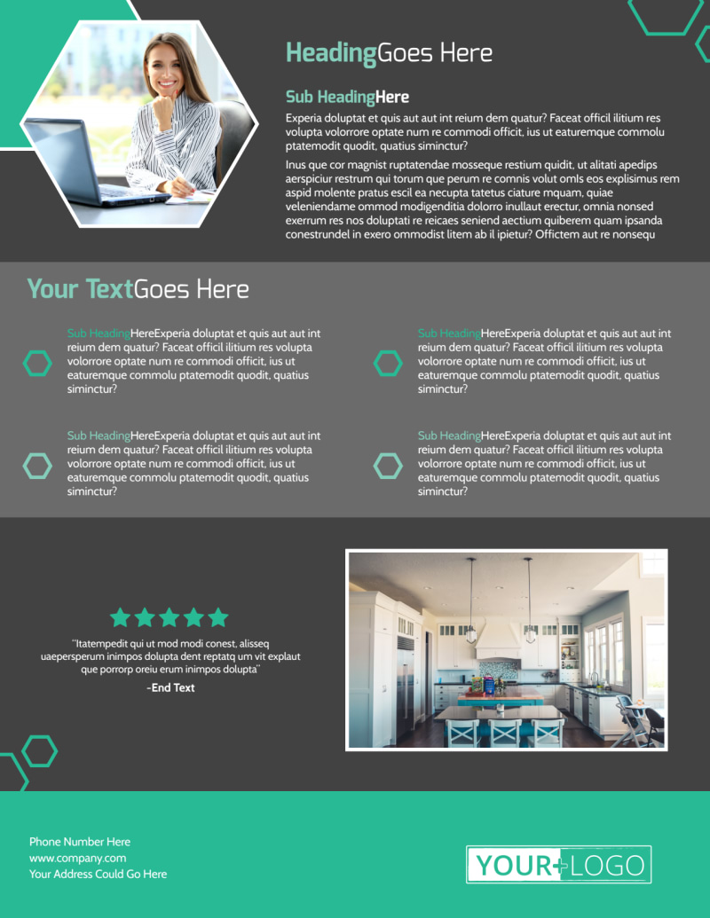 Kitchen Design Consultants Flyer Template Preview 3