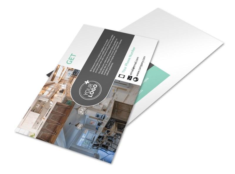 Kitchen design consultants postcard template mycreativeshop for Kitchen design consultants