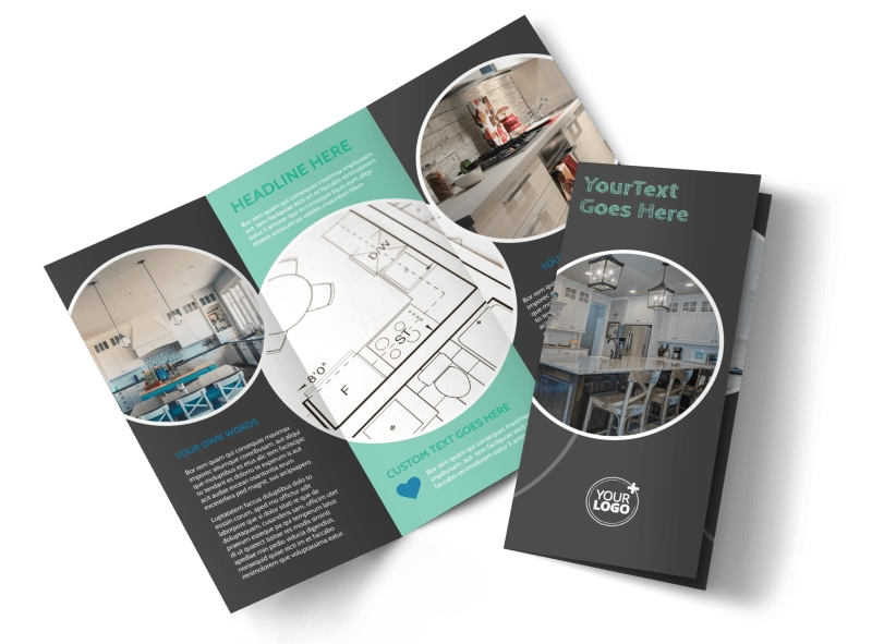 Kitchen Remodeling Tri-Fold Brochure Template