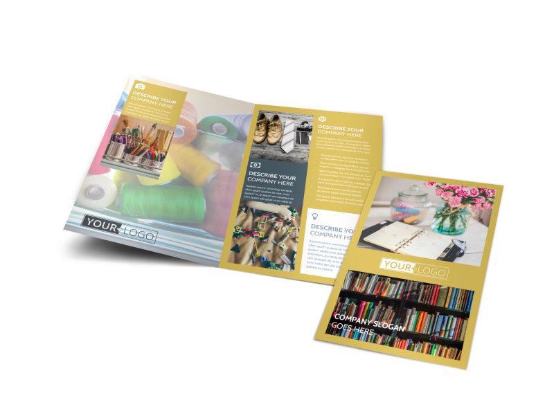 Home Organizing Service Bi-Fold Brochure Template