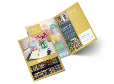 Home Organizing Service Bi-Fold Brochure Template preview