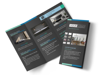 Interior Design Professionals Tri-Fold Brochure Template preview