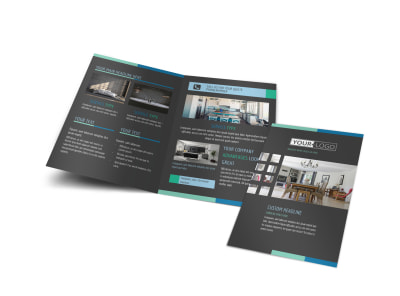 Interior Design Professionals Bi-Fold Brochure Template preview
