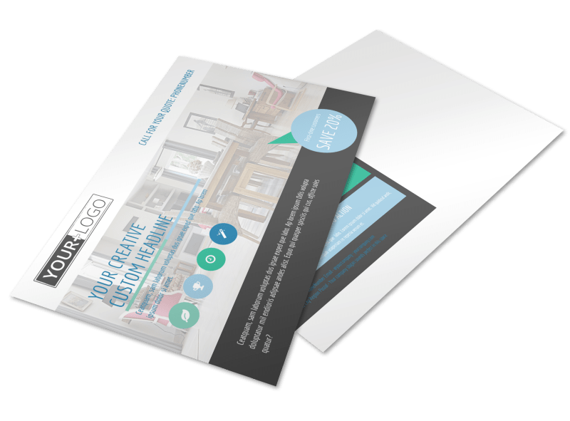 Interior Design Professionals Postcard Template Preview 1