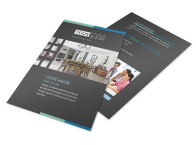 Interior Design Professionals Flyer Template preview