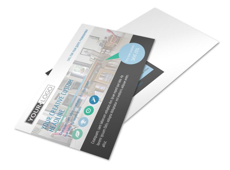 Interior Design Professionals Postcard Template