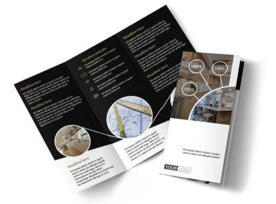 Kitchen Redesign Experts Tri-Fold Brochure Template