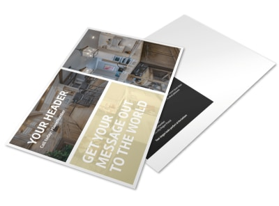 Kitchen Redesign Experts Postcard Template preview
