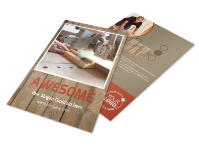 Home Carpentry Service Flyer Template preview