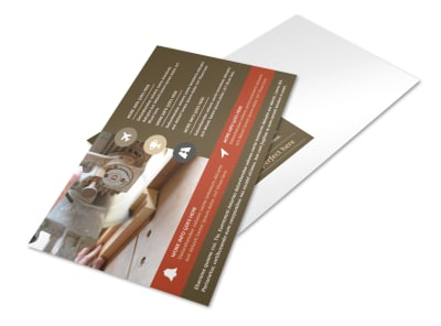 Home Carpentry Service Postcard Template preview