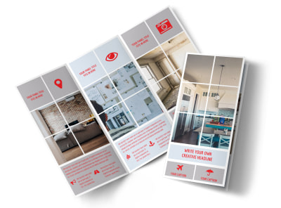 Creative Home Remodeling Tri-Fold Brochure Template preview