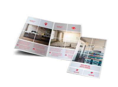 Creative Home Remodeling Bi-Fold Brochure Template preview