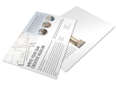Creative Home Remodeling Postcard Template preview