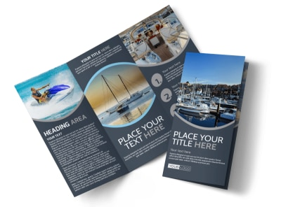 Boat & Watercraft Insurance Tri-Fold Brochure Template