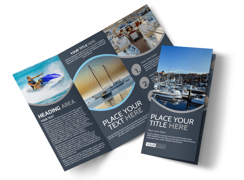 Boat & Watercraft Insurance Brochure Template Preview 1