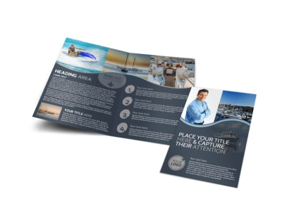 Boat watercraft insurance business card template for Insurance brochure template