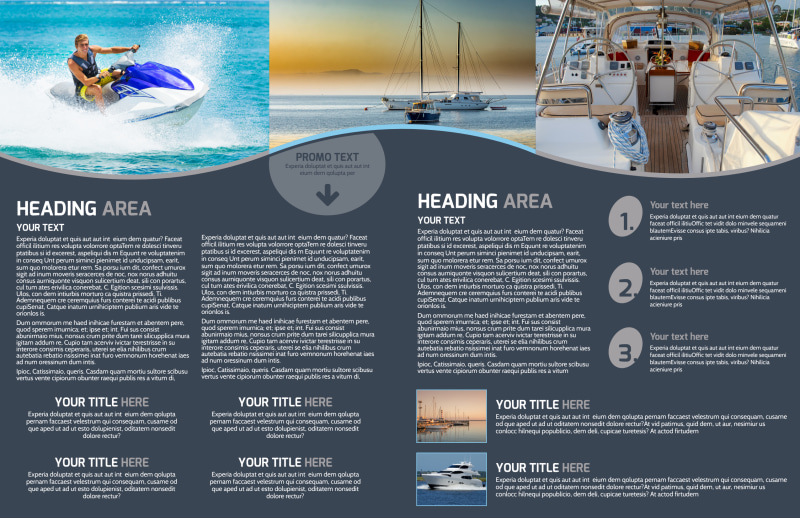 Boat & Watercraft Insurance Brochure Template Preview 3