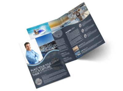 Boat & Watercraft Insurance Bi-Fold Brochure Template preview