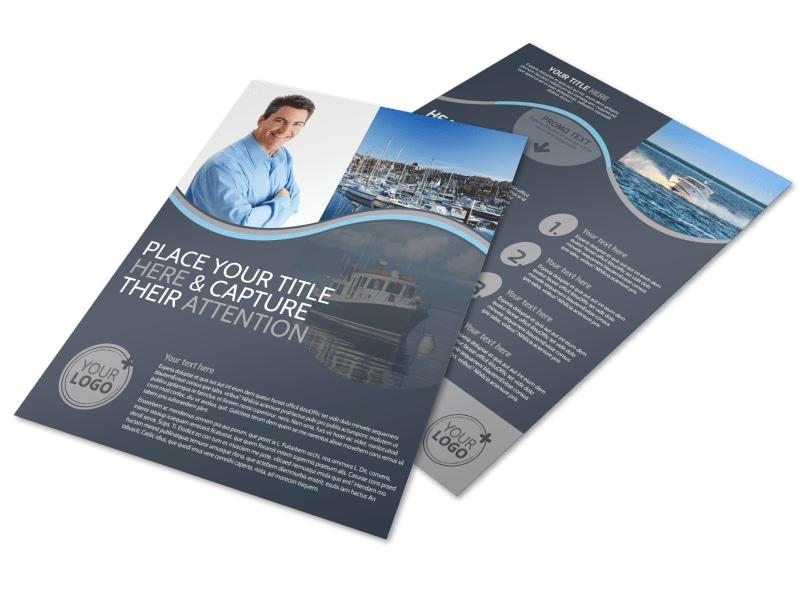 Boat & Watercraft Insurance Flyer Template