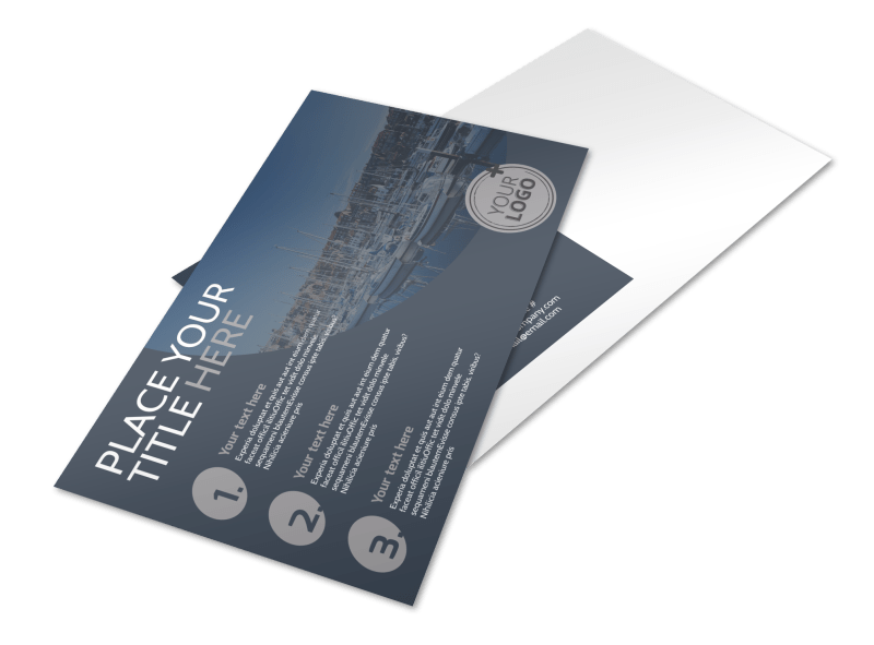 Boat & Watercraft Insurance Postcard Template Preview 1