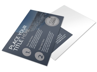 Boat & Watercraft Insurance Postcard Template preview