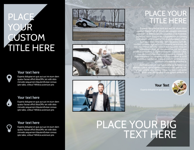 Auto Insurance Brochure Template Preview 3