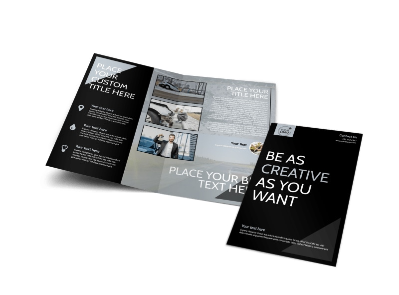 Auto Insurance Brochure Template Preview 4
