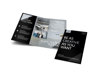 Auto Insurance Bi-Fold Brochure Template preview