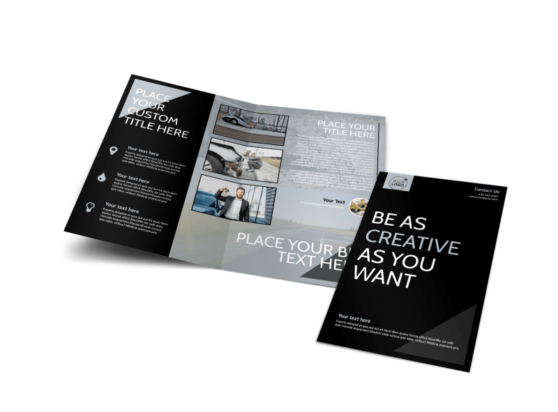 Auto Insurance Brochure Template Preview 1
