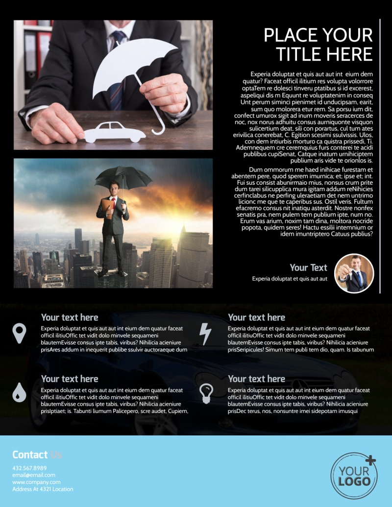 Auto Insurance Flyer Template Preview 3