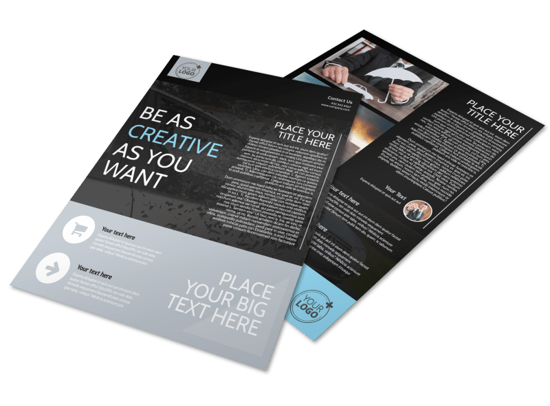 Auto Insurance Flyer Template Preview 1
