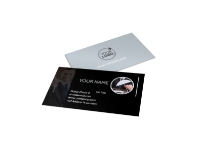 Auto Insurance Business Card Template preview