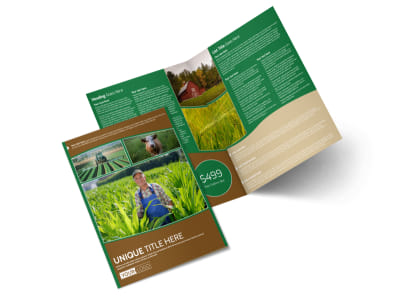 Farmers Insurance Agent Bi-Fold Brochure Template preview
