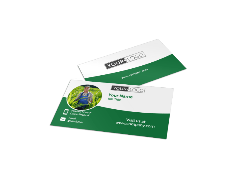 Farmers Insurance Agent Business Card Template Preview 1