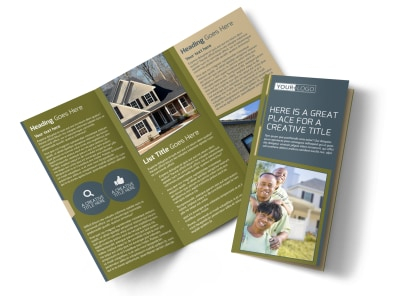 Homeowners Insurance Tri-Fold Brochure Template preview