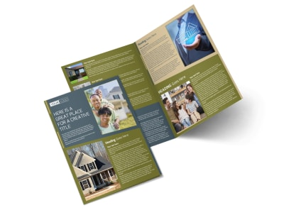 Homeowners Insurance Bi-Fold Brochure Template preview