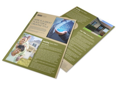 Homeowners Insurance Flyer Template preview