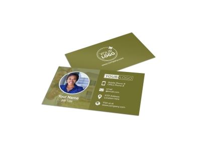 Homeowners Insurance Business Card Template preview