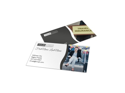 Travelers Insurance Business Card Template preview
