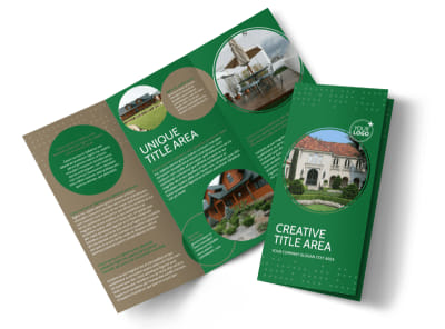 Beautiful Home Landscape Tri-Fold Brochure Template preview