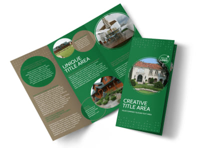 Beautiful Home Landscape Tri-Fold Brochure Template